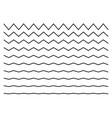 wave line zigzag vector image