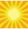 Yellow sunbeam rays vector image vector image