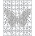 butterfly on big puzzle vector image