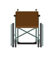 invalid wheelchair front view isolated on a white vector image