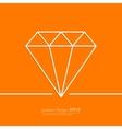 Stock Linear icon diamond vector image