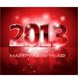 2013 New Year shiny background vector image