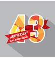 43rd Years Anniversary Celebration Design vector image vector image