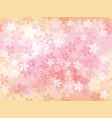 a seamless background image with cherry blossoms vector image vector image