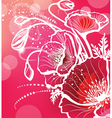 background with flowers poppy vector image vector image