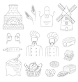bakery collection with bakers doodle style