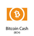 bitcoin cash cryptocurrency symbol vector image vector image