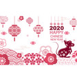 bright banner with chinese new ayer 2020 vector image vector image