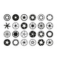 camera aperture lens diaphragm photography icon vector image vector image