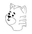cat cute cartoon vector image