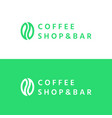 coffee seed - logo vector image