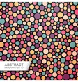 Colorful dotted abstract background vector image
