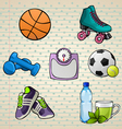 Colorful Sport Elements Set vector image