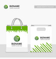company shopping bags design with logo vector image
