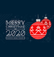 congratulations on new year 2020 and christmas vector image vector image