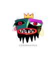 coronavirus outbreak in doodle art style vector image