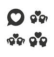 Couple love icon Lesbian and Gay lovers signs vector image vector image