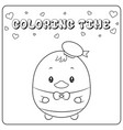 cute donald duck sketch drawing for coloring vector image vector image