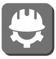 Development Helmet Rounded Square Icon vector image vector image