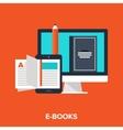 e-books vector image vector image