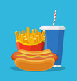 fast food lunch vector image vector image