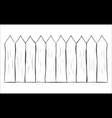 fence cartoon outline symbol icon design vector image vector image