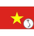 flag and map vietnam vector image vector image