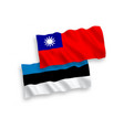 flags taiwan and estonia on a white background vector image