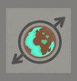 flat shading style icon earth gays symbol vector image vector image