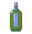 glass bottle icon cartoon style vector image vector image