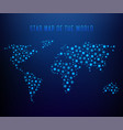 glowing world map vector image vector image