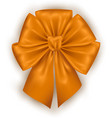 golden photorealistic bow vector image vector image