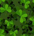 Green clover seamless pattern Plant ornament vector image