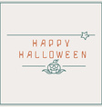 Halloween background with inscription vector image