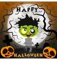 halloween crazy guy vector image vector image