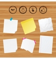 Hand icons Like thumb up and click here symbols vector image vector image