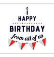Happy Birthday Label With Flags vector image