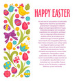 happy easter wish christian holiday traditions and vector image vector image