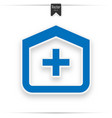 hospitalblue icon design vector image vector image