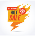 hot fire sale banner vector image vector image