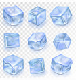 ice cubes isolated transpatrent frost vector image vector image