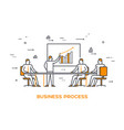 icon business 03 business process vector image