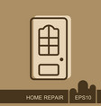 interroom door icon vector image vector image