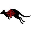 Kangaroo crosslines vector image vector image