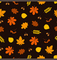 leaf pattern color warm autumn vector image vector image