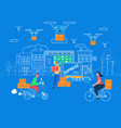 Logistics delivery home and office infographics