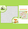 maze game puzzle vector image vector image