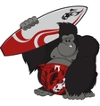 Monkey surfer vector image vector image