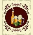 oktoberfest round emblem vector image vector image