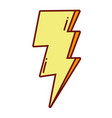 pop art thunder weather style vector image vector image